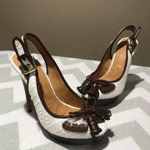 ZARA platform heeled sandals